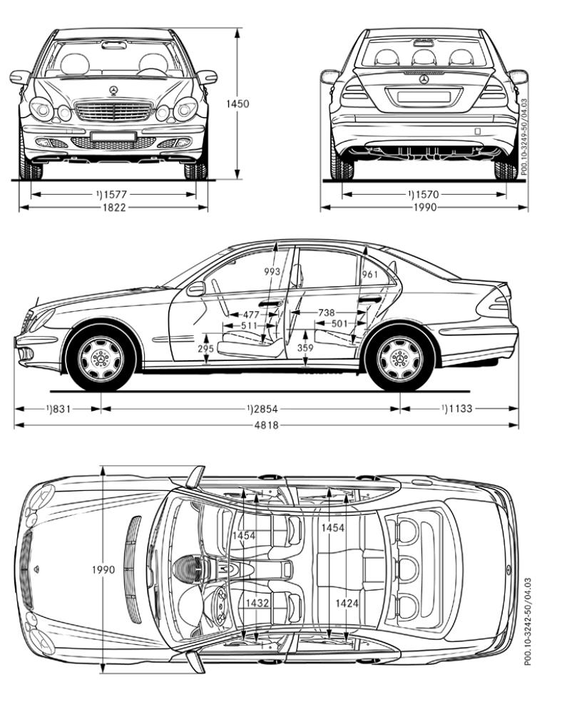 Mercedes Benz W124 Abmessungen